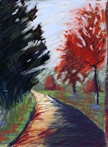 Red Oak Hill Road 7, 6x8, pastel, March 2019