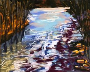 'Kayaker's Dream' 9x12, soft pastel on pastelmat paper, April 2019
