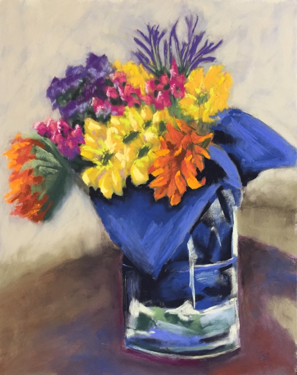 Beautiful Bouquet, 9x12, pastel, 27 January, 2019