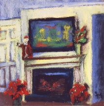 Mom's, 6x6, pastel painting, 17 December 2018