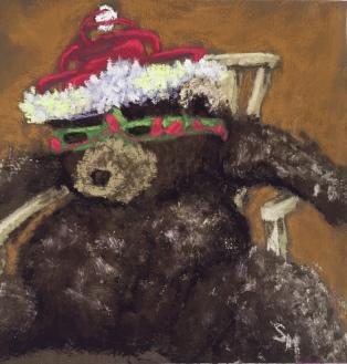 Nick, 6x6, pastel painting, 25 December 2018