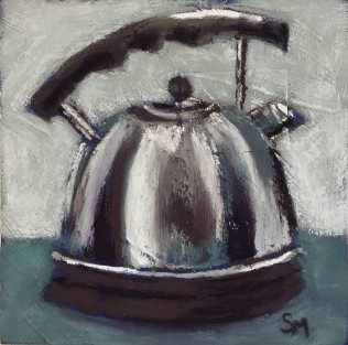 Fancy a cuppa, 6x6, pastel, 3 January, 2019